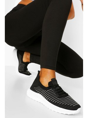 Boohoo Stripe Detail Knitted Sports Sneakers