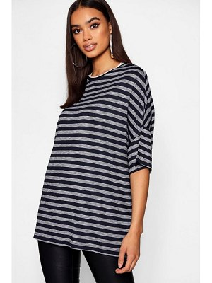 Boohoo Stripe Supersize T-Shirt