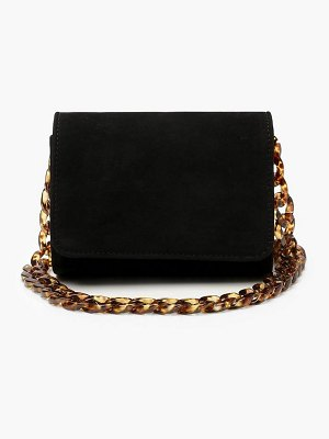 Boohoo Suedette Chunky Resin Chain Cross Body