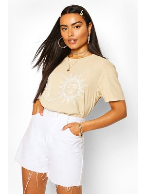Boohoo Sun & Moon Washed Tee