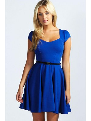 Boohoo Sweetheart Neck Skater Dress