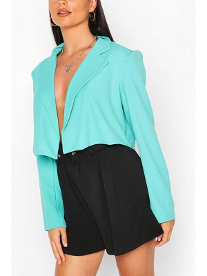 Boohoo Tailored Crop Blazer