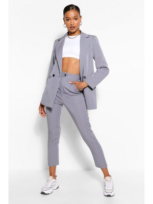Boohoo Tailored Pinstripe Straight Trouser