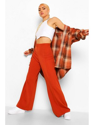 Boohoo Tailored Seam Front Wide Leg Trouser