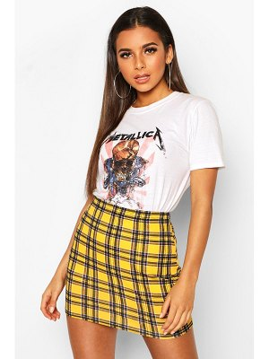 Boohoo Plaid Flannel Mini Skirt