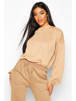Boohoo The Basic High Neck Crop Sweat