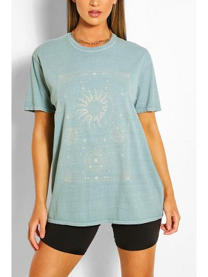 Boohoo Celestial Print Washed T-Shirt