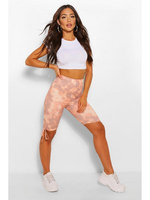 Boohoo Tie Dye Ruched Side Cycling Short