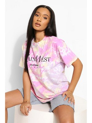 Boohoo Tie Dye Ye Saint West Oversized T-Shirt