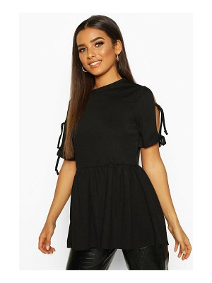 Boohoo Tie Sleeve Detail Smock Top
