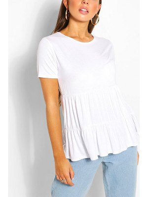 Boohoo Tiered Smock Top