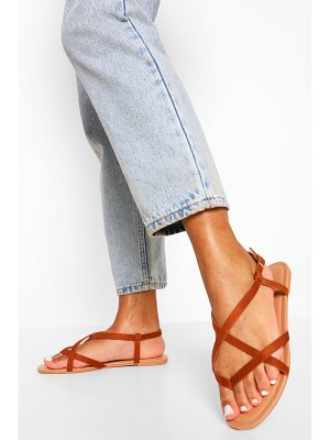 Boohoo Toe Post Strappy Basic Sandal