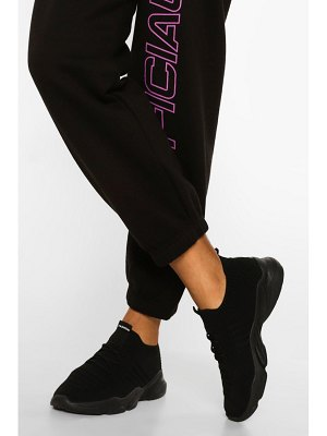 Boohoo Tonal Knitted Sports Trainer