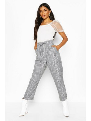 Boohoo Turn Up Dogtooth flannel Slim Fit pants