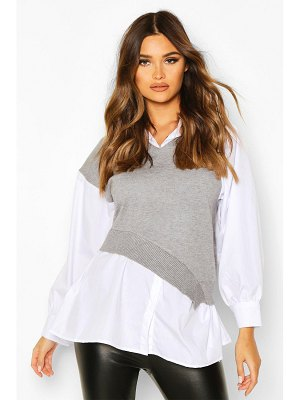 Boohoo Two In One sweater Shirt