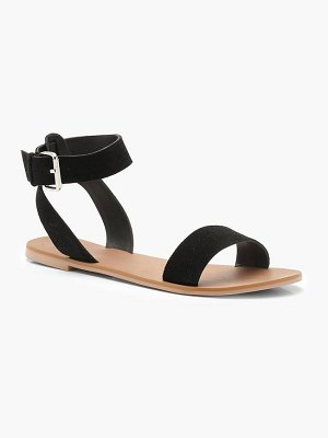 Boohoo Two Part Suede Sandals