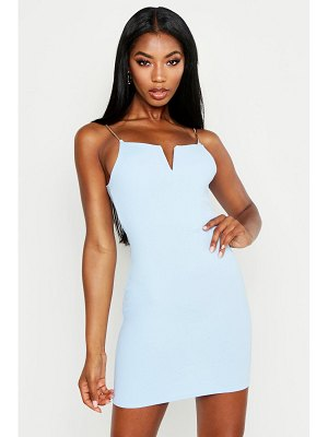 Boohoo V Inset Bodycon Dress With Chain Straps