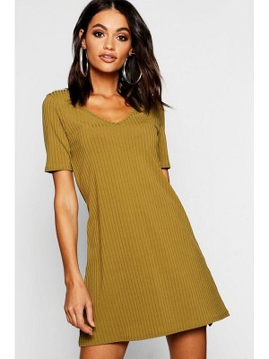 Boohoo V Neck Swing Dress