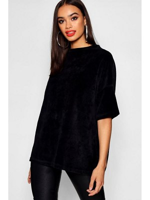Boohoo Velour Supersized T-Shirt