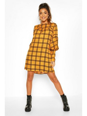 Boohoo Volume Sleeve Smock Dress