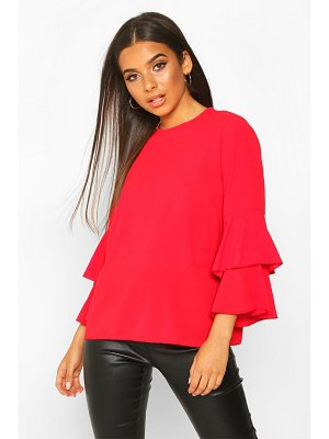 Boohoo Volume Sleeve Tunic Top
