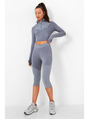 Boohoo Waist Shaping Active Cropped Legging