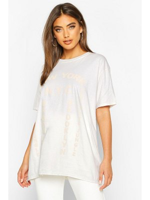 Boohoo Washed New York Graphic Print T-Shirt