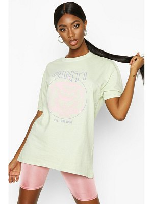 Boohoo Washed Pastel Graphic T-Shirt