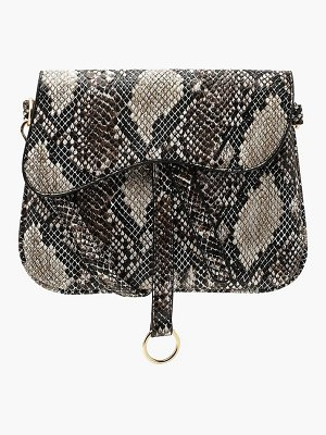 Boohoo Wave Flap Snake Cross Body
