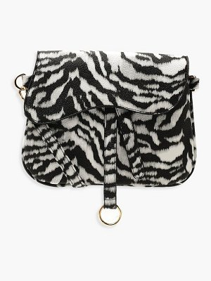 Boohoo Wave Flap Zebra Cross Body