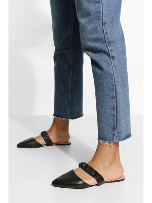 Boohoo Wide Width Ruched Band Mules