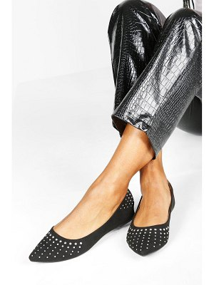 Boohoo Wide Width Studded Pointed Ballets