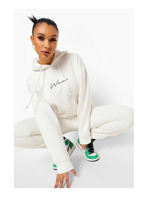 Boohoo Woman Embroidered Hooded Tracksuit