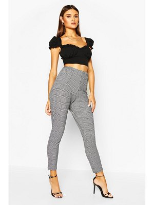 Boohoo Dogtooth Print Slim Fit Trouser