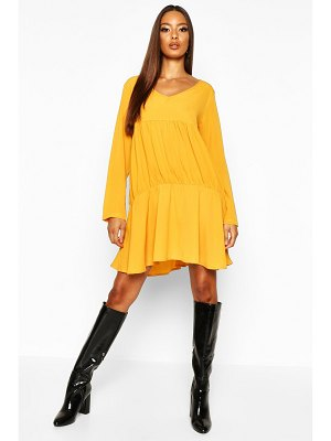 Boohoo Long Sleeve Smock Dress