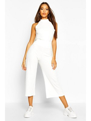 Boohoo Soft Rib Racer Back Top & Culotte Co-Ord