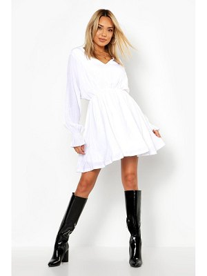 Boohoo Volume Sleeve Skater Dress