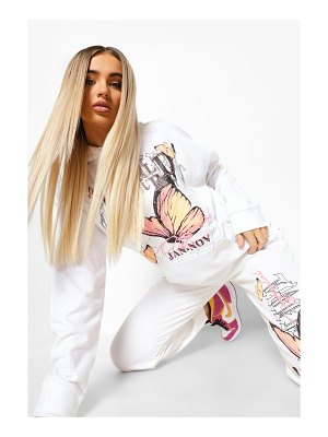 Boohoo World Tour Butterfly Hooded Tracksuit