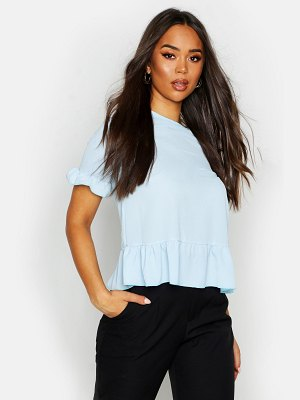 Boohoo Woven Button Back Shell Top
