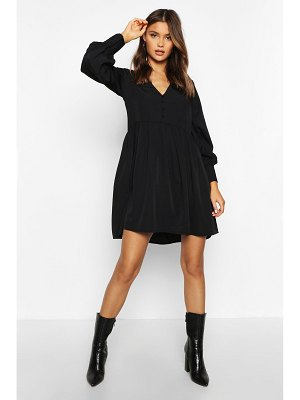 Boohoo Woven Button Detail Smock Dress