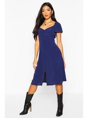 Boohoo Woven Button Through Sweetheart