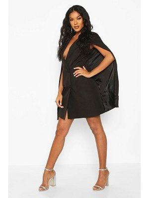 Boohoo Woven Double Breasted Cap Detail Blazer Dress