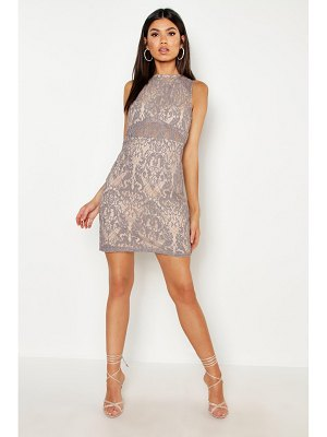 Boohoo Woven Embroidery Lace Bodycon Dress