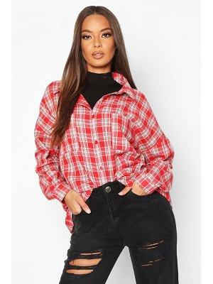 Boohoo Woven Oversized Pocket Detail flannel Shirt