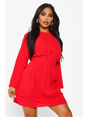 Boohoo Woven Pintuck Shift Dress