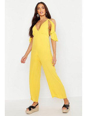 Boohoo Woven Plunge Culotte Jumpsuit
