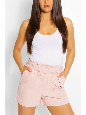 Boohoo Woven Side Pocket Belted Shorts
