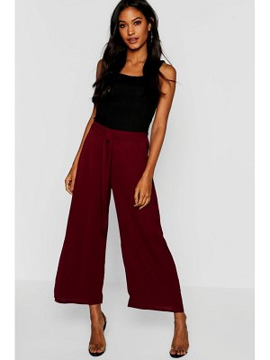 Boohoo Woven Tie Front Culottes