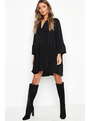 Boohoo Woven Tiered Smock Dress