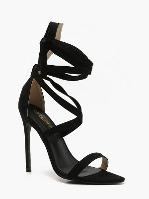 Boohoo Wrap Ankle Strap Pointed Heels